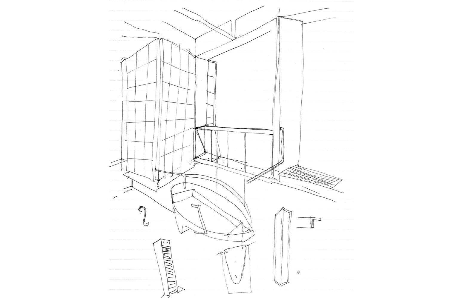 45 Leeuwen Street - Interior Sketch