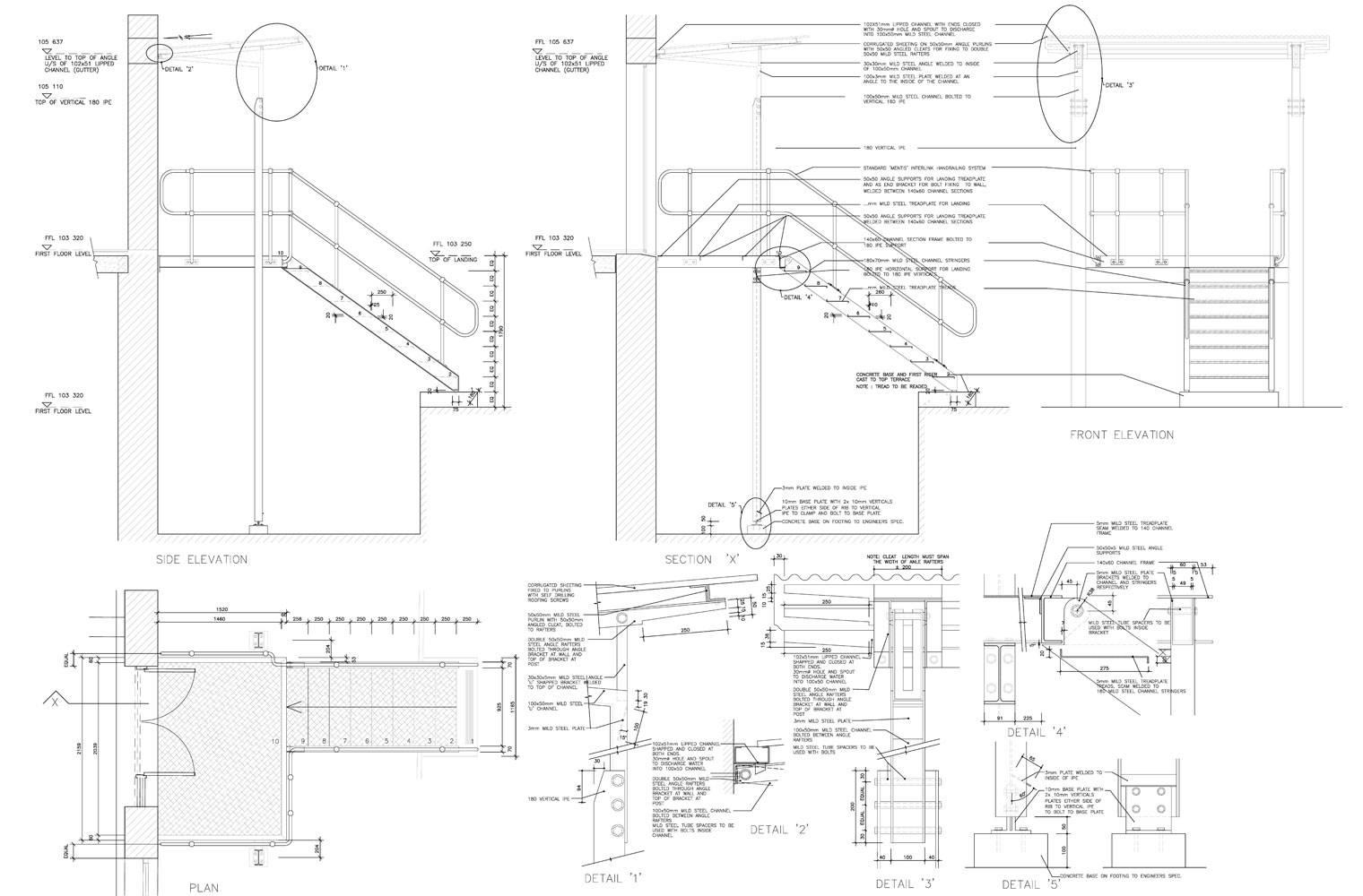 5 Roodehek Street - Steel Details