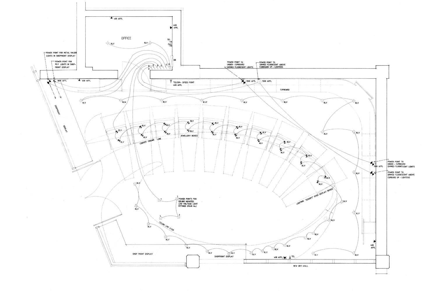 Pinns Jewellers - Ceiling Plan
