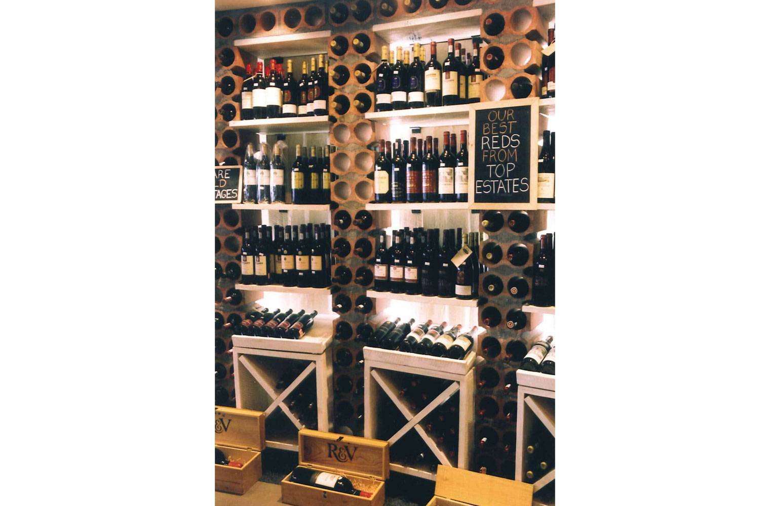 Wine Ways - Shelving detail