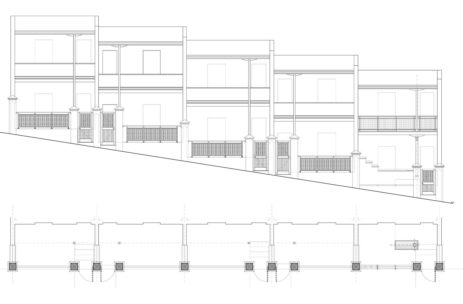 Brunswick Terraces - Street Elevation