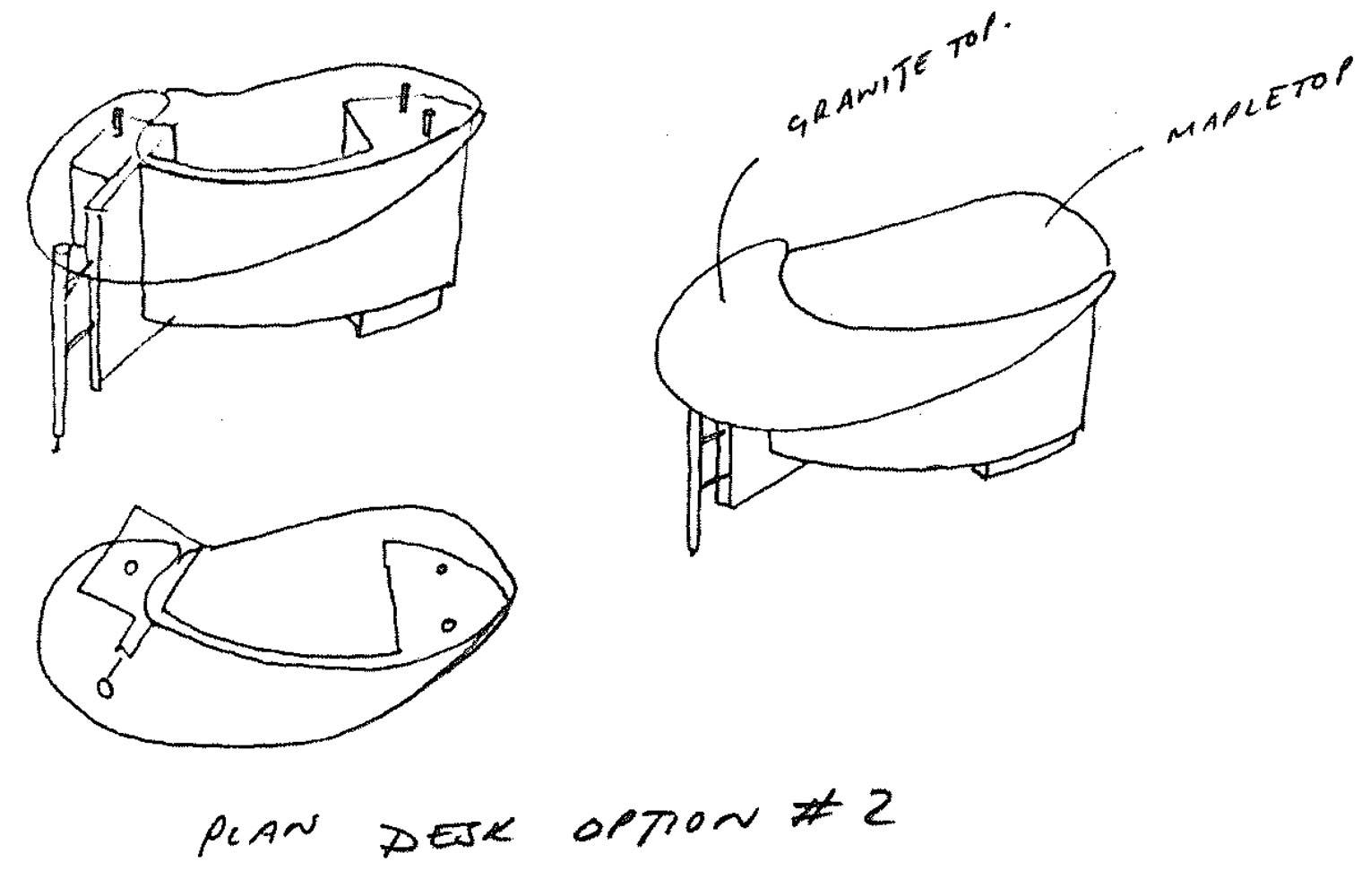 Clarins - Desk Design Sketches