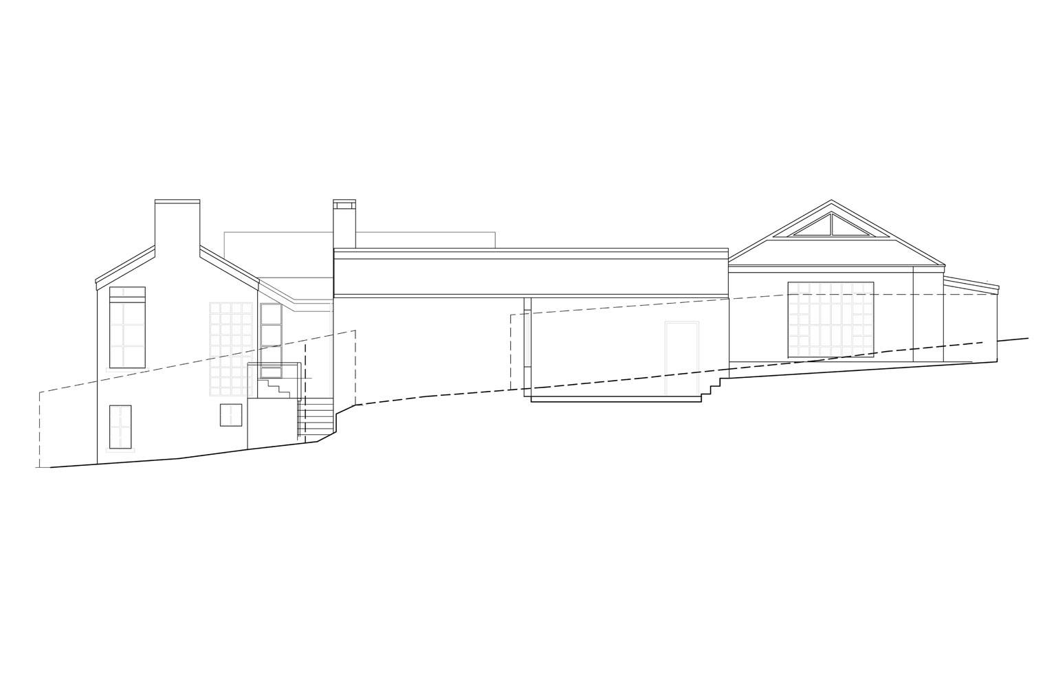 House Aucamp, Oosthuizen - West Elevation