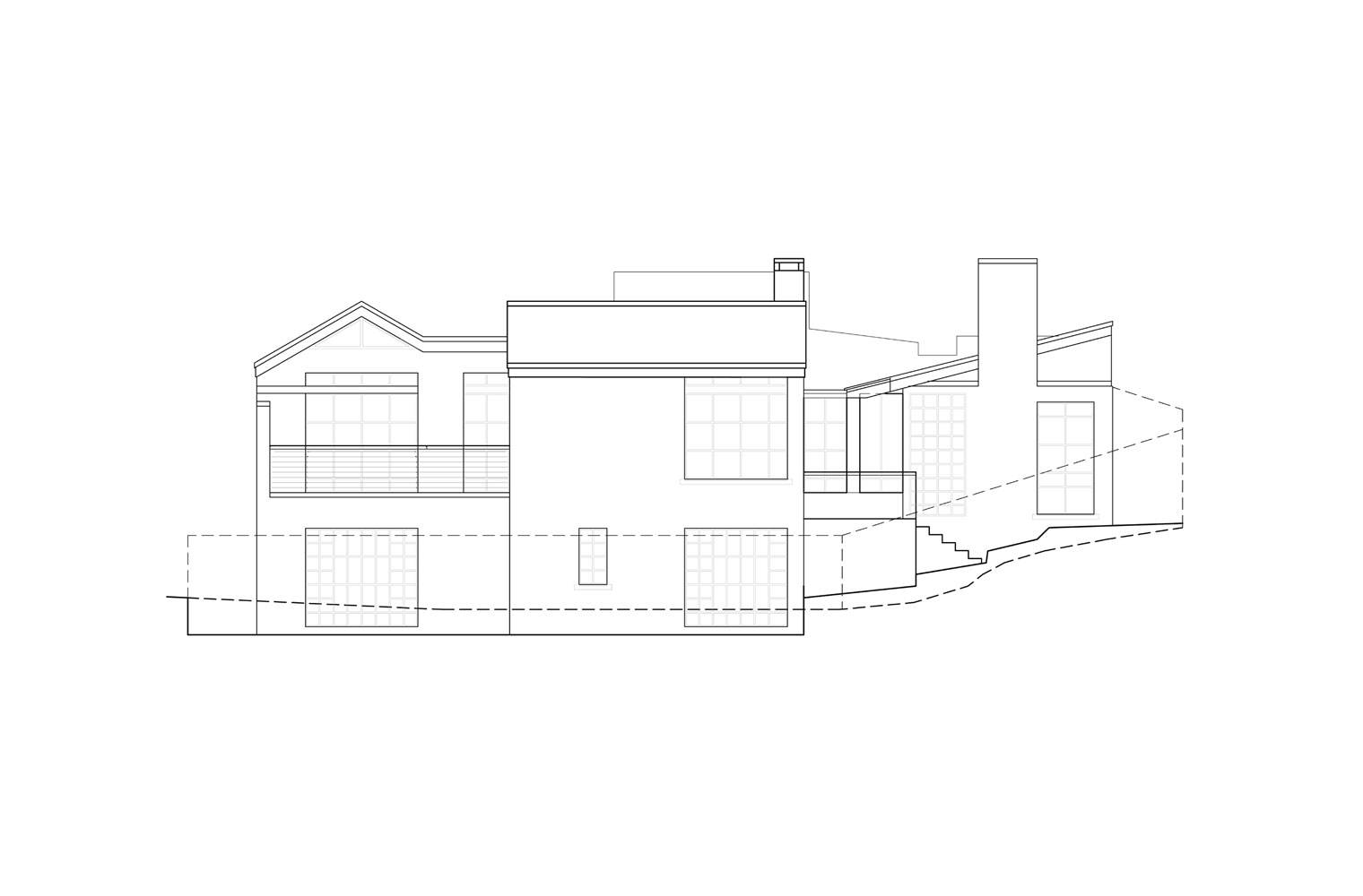 House Aucamp, Oosthuizen - North Elevation