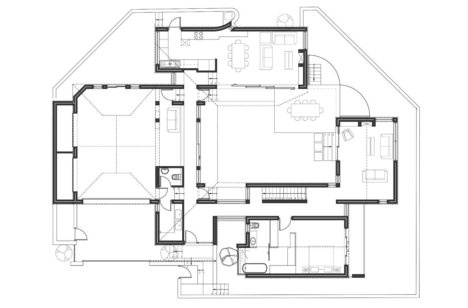 House Aucamp, Oosthuizen - Ground Floor Plan