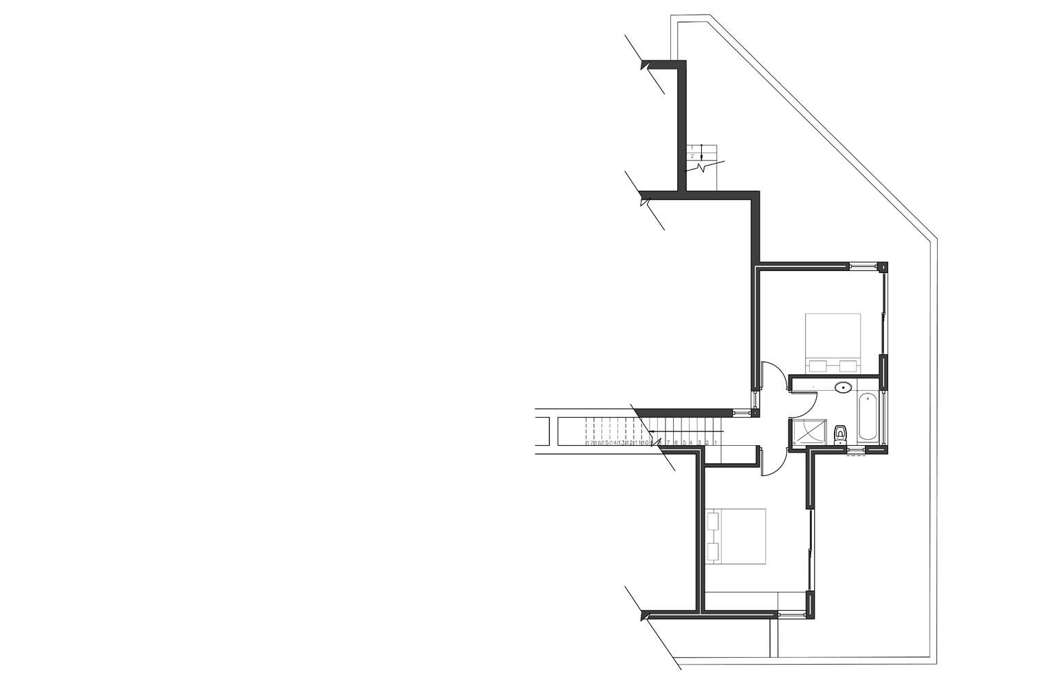 House Aucamp, Oosthuizen - Lower Ground Floor Plan