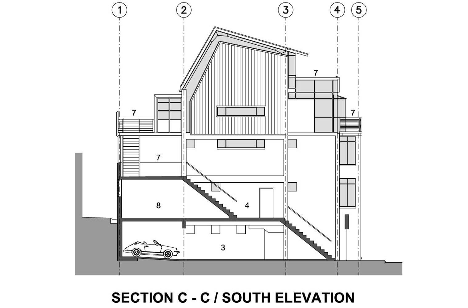 218 Buitengragt Street - South Elevation