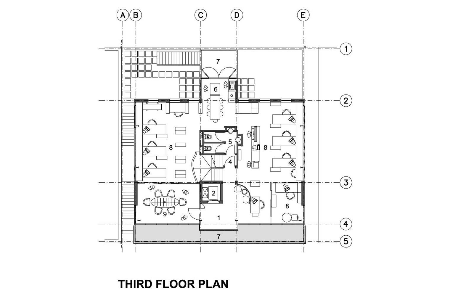 218 Buitengragt Street - Third Floor Plan