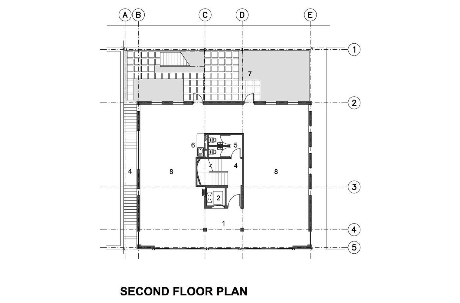 218 Buitengragt Street - Second Floor Plan