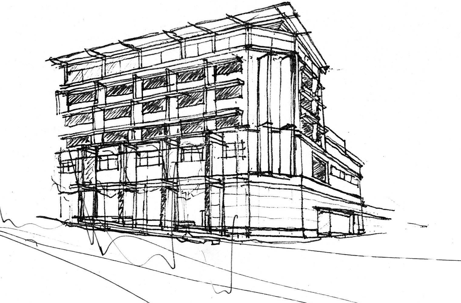Centrepoint - Facade Sketch