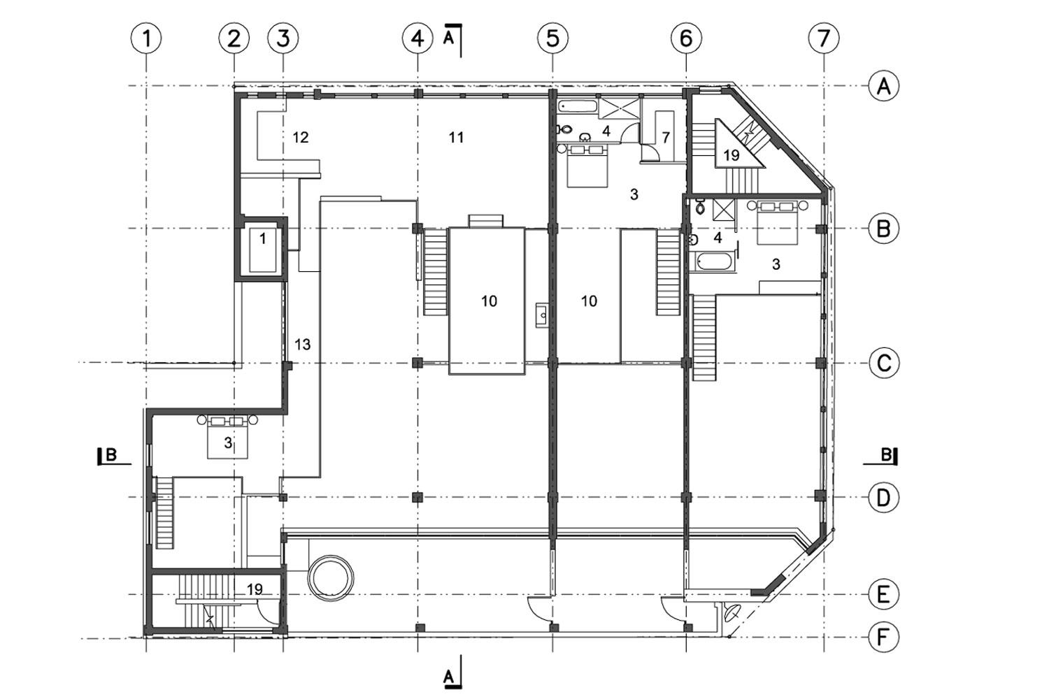 Leyden House 3rd Floor Mezzanine Plan