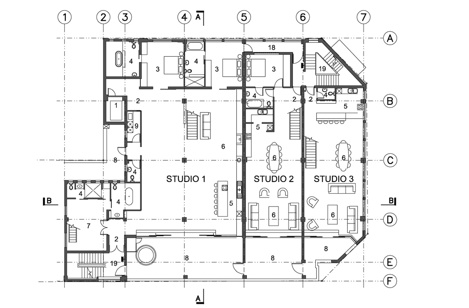 Leyden House 3rd Floor Plan