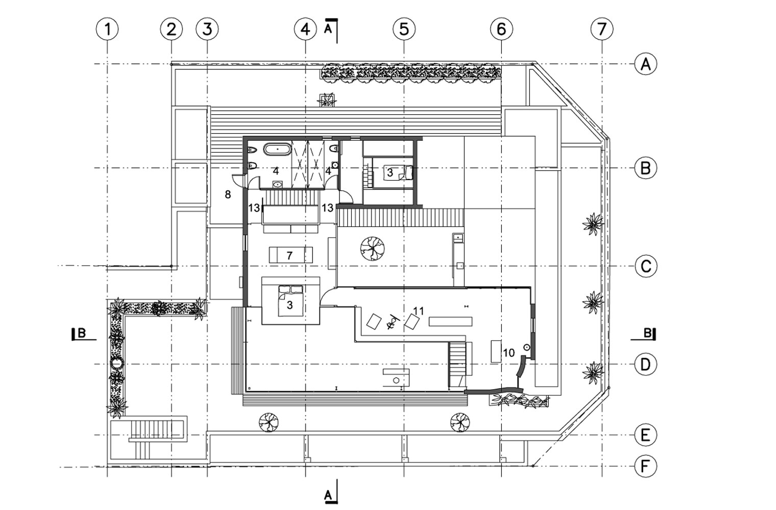 Leyden House 4th Floor Mezzanine Plan