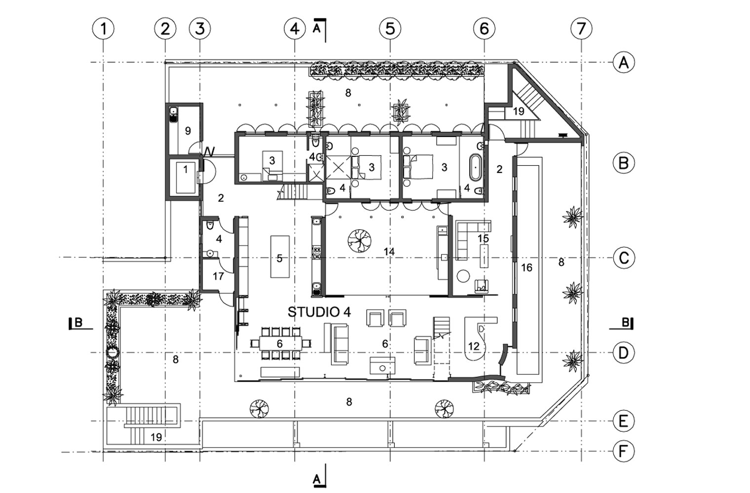 Leyden House 4th Floor Plan