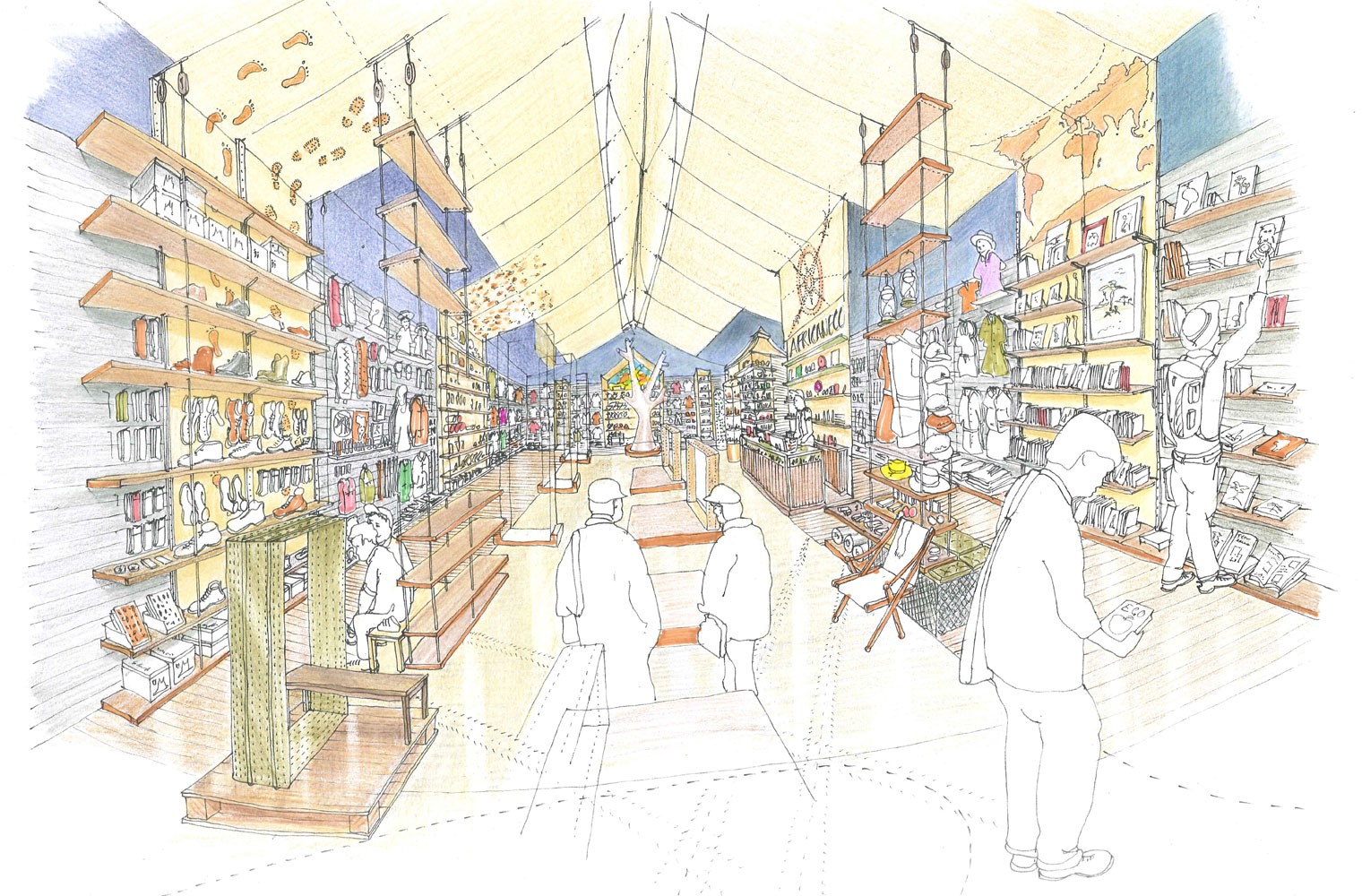 African Eco Store - Concept Drawing