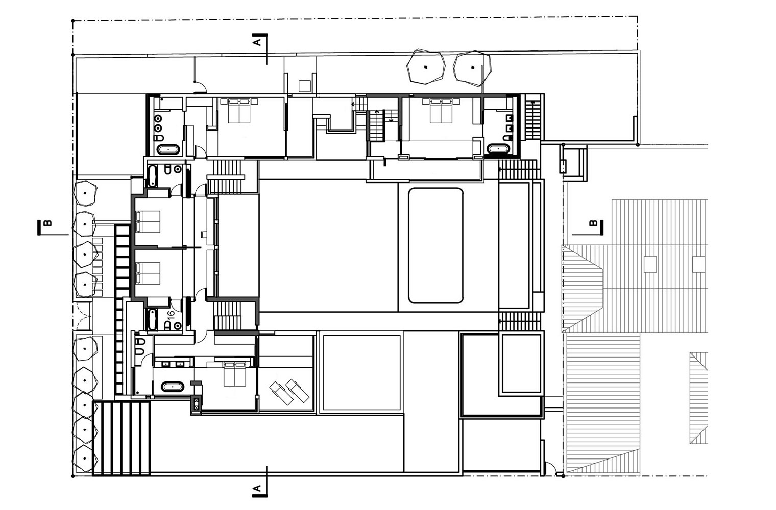111 on 11th Guest House - First Floor Plan