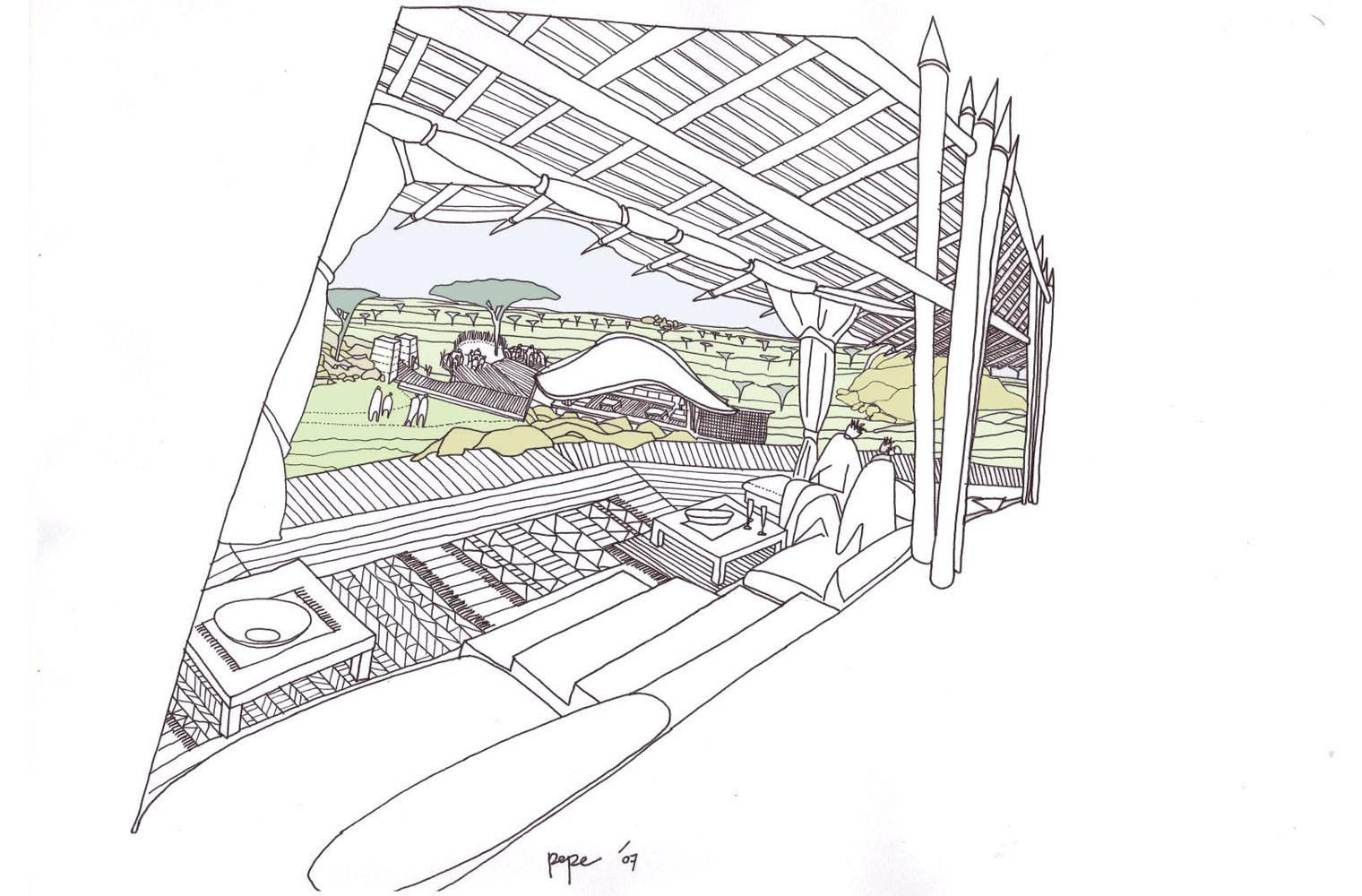 Serengeti Tented Camp - Concept Sketch