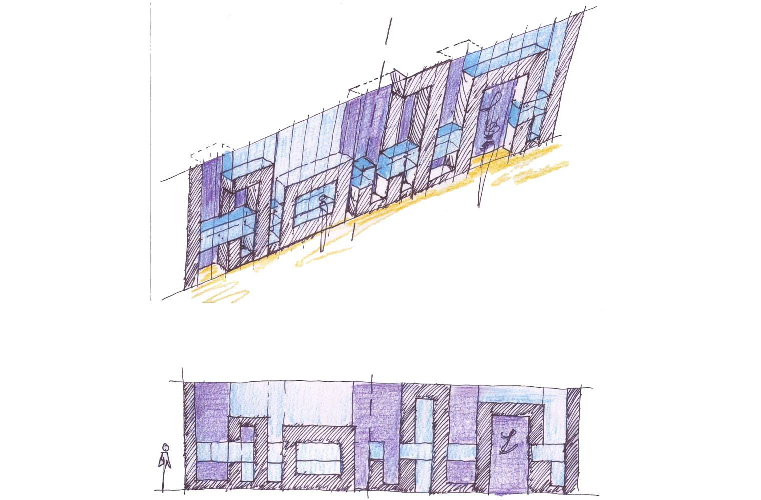Tanur, Sandton City, Shopfront Concept Sketch
