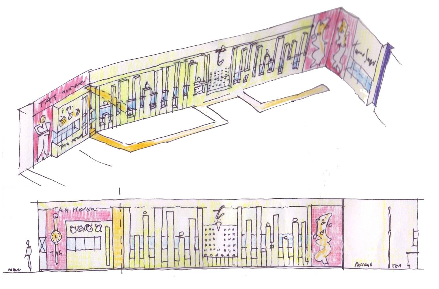 Tanur, Sandton City, Internal Unit Concept Sketch