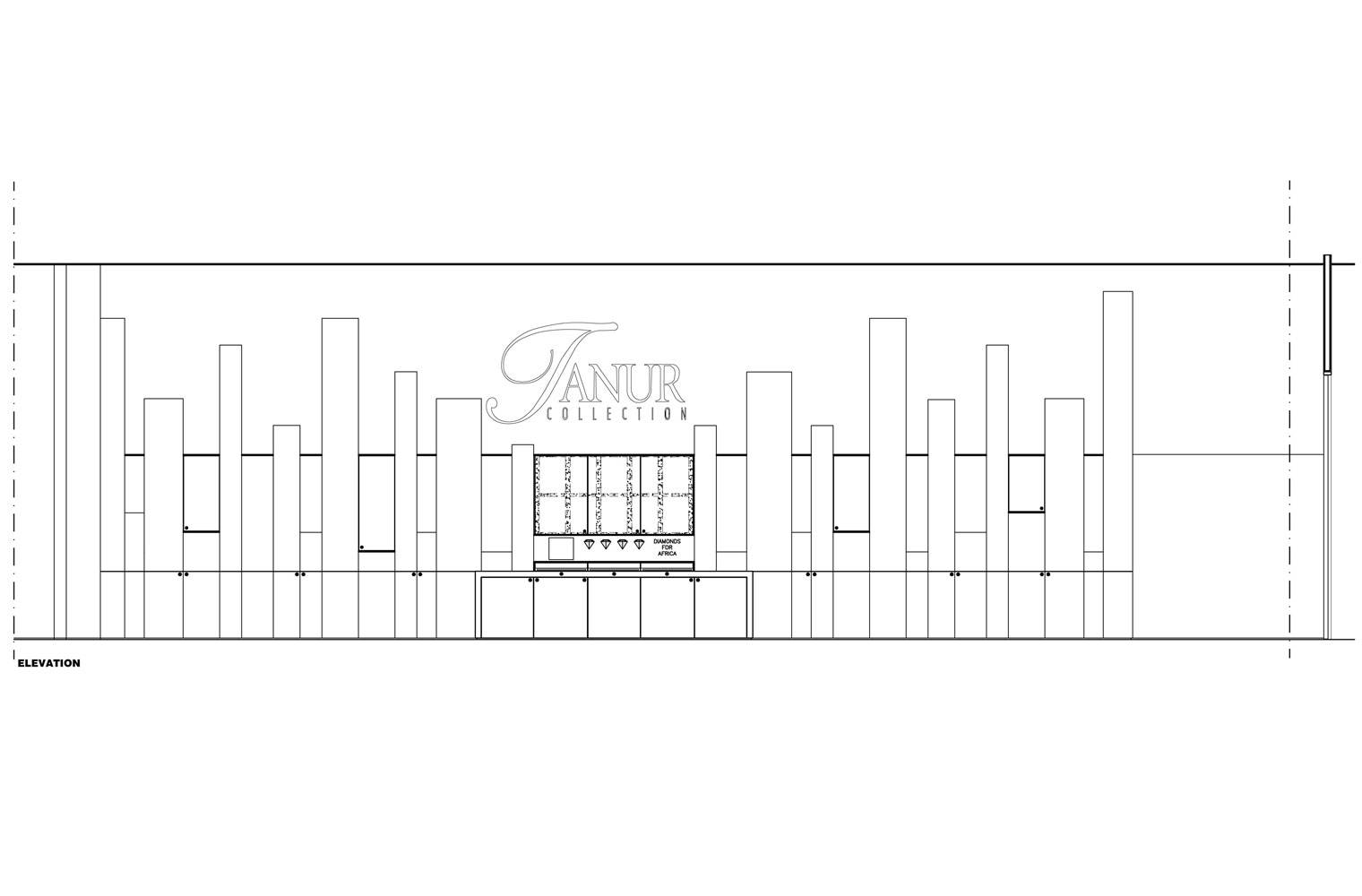 Tanur, Sandton City, Internal Elevation