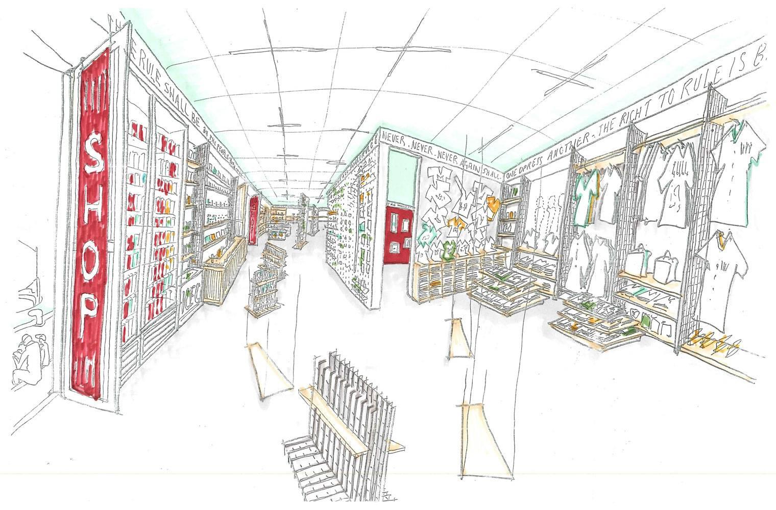 Robben Island - Retail Store Concept Sketches