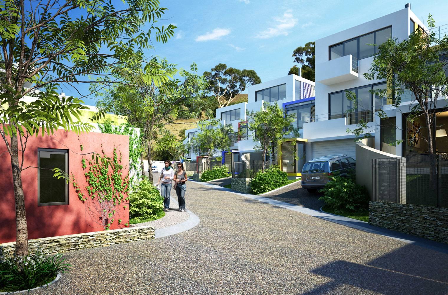 Signal Hill - 3D render, Internal Street