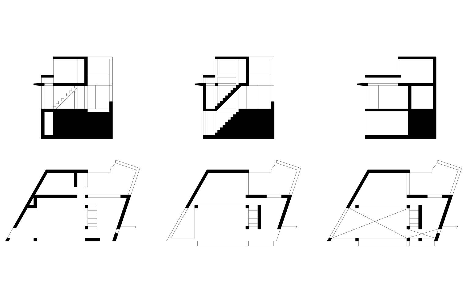 House Rese - Bottom House, Plans & Sections