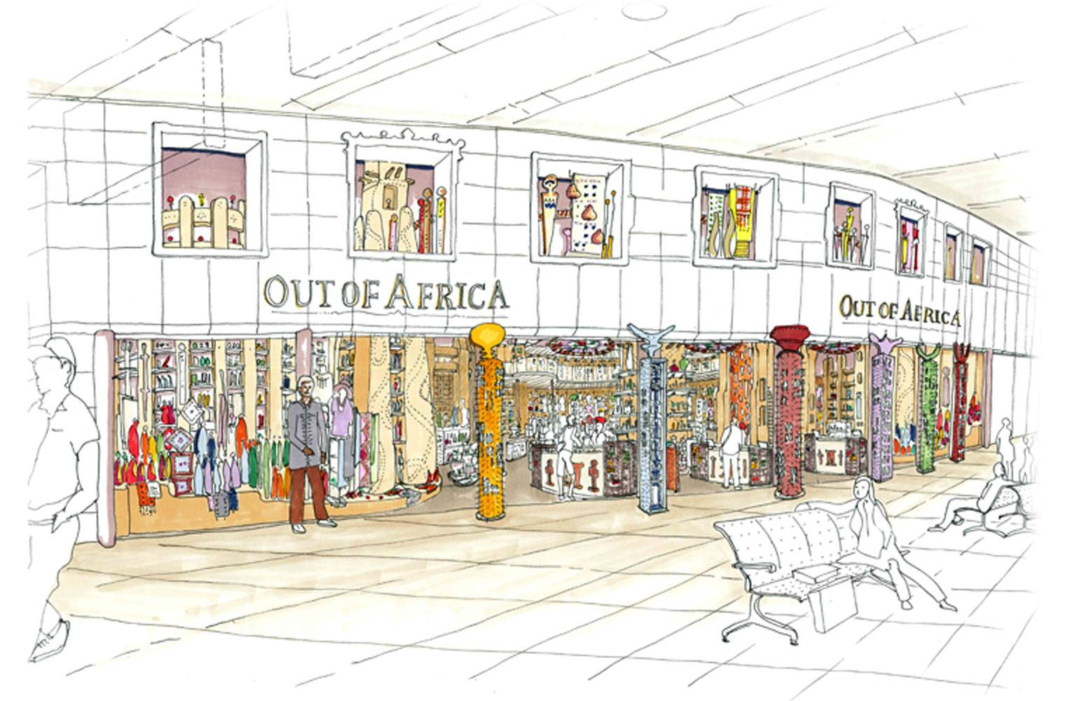 Out Of Africa - OR Tambo FInal Concept, Mall View