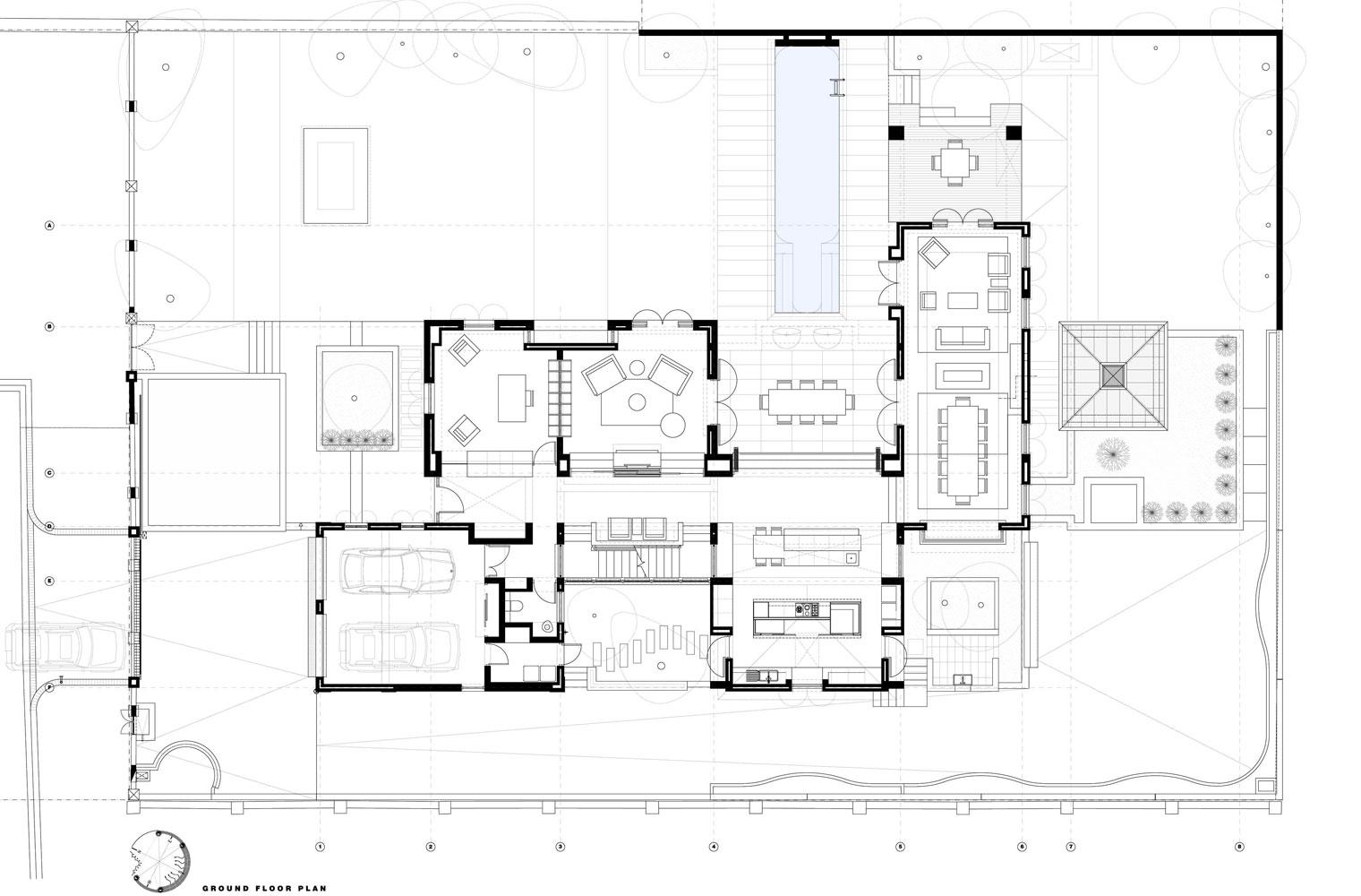 House Scheibe - Ground Floor Plan