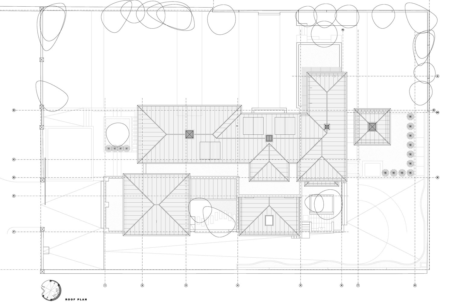 House Scheibe - Roof Plan