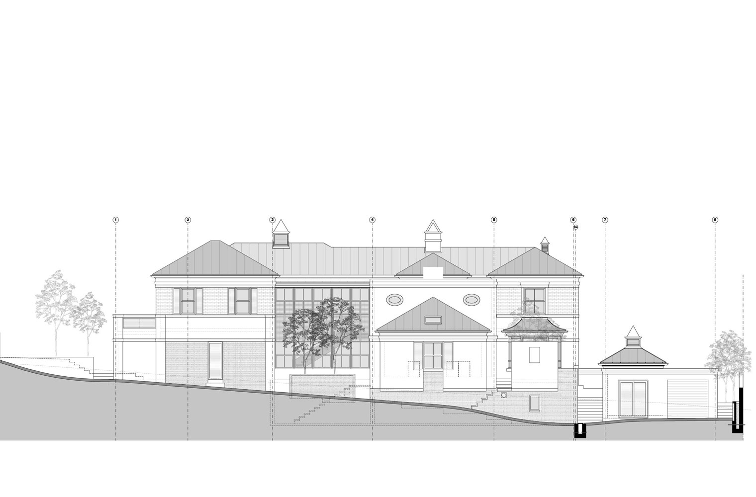 House Scheibe - East Elevation