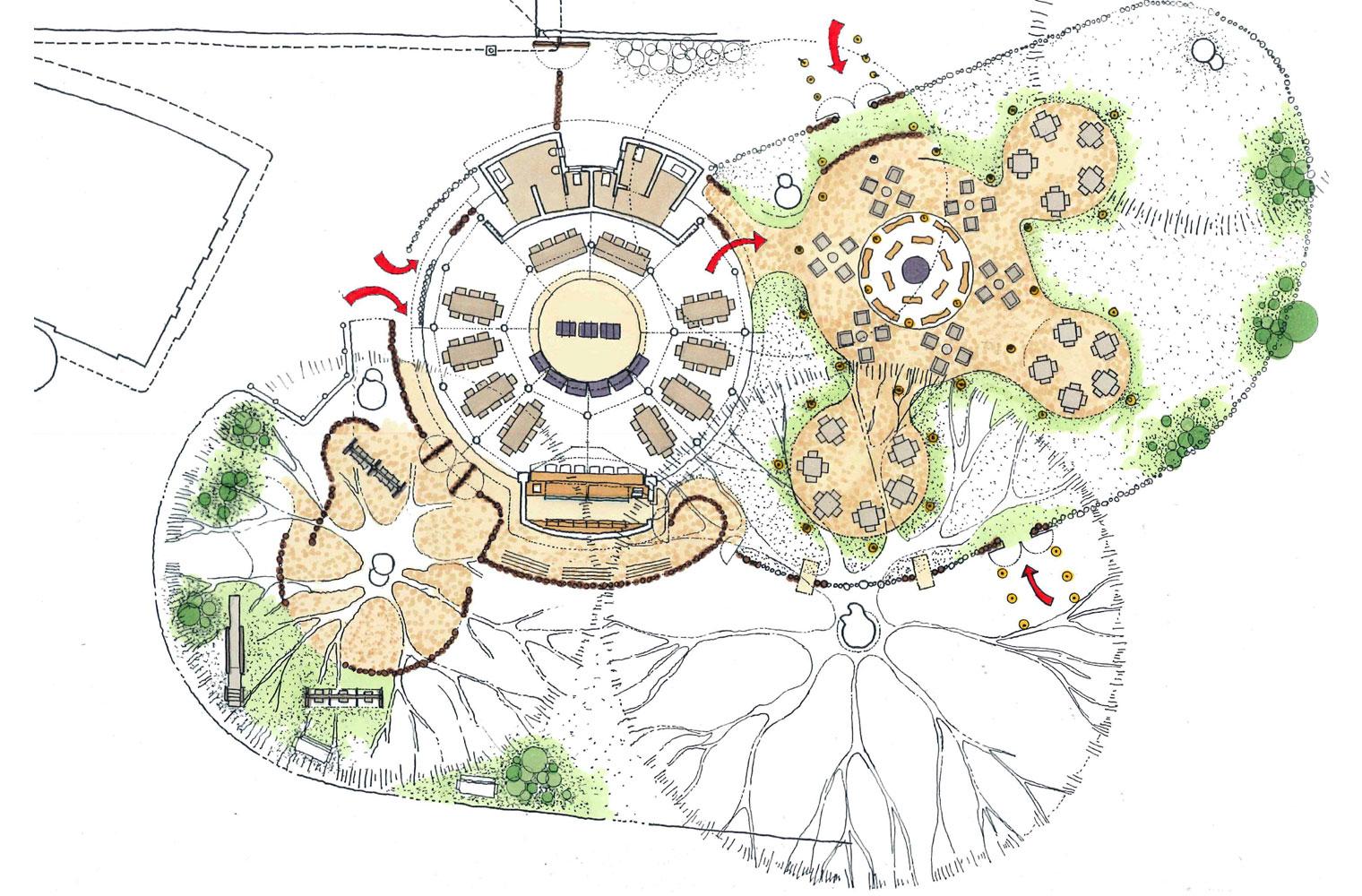 Skukuza Restaurant - Boma Layout Plan