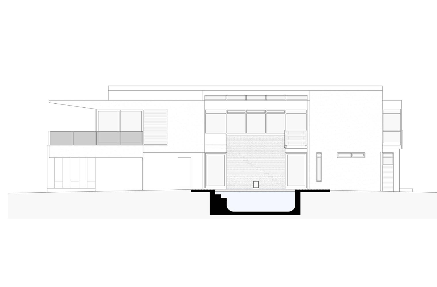 Langbaai House - South Elevation