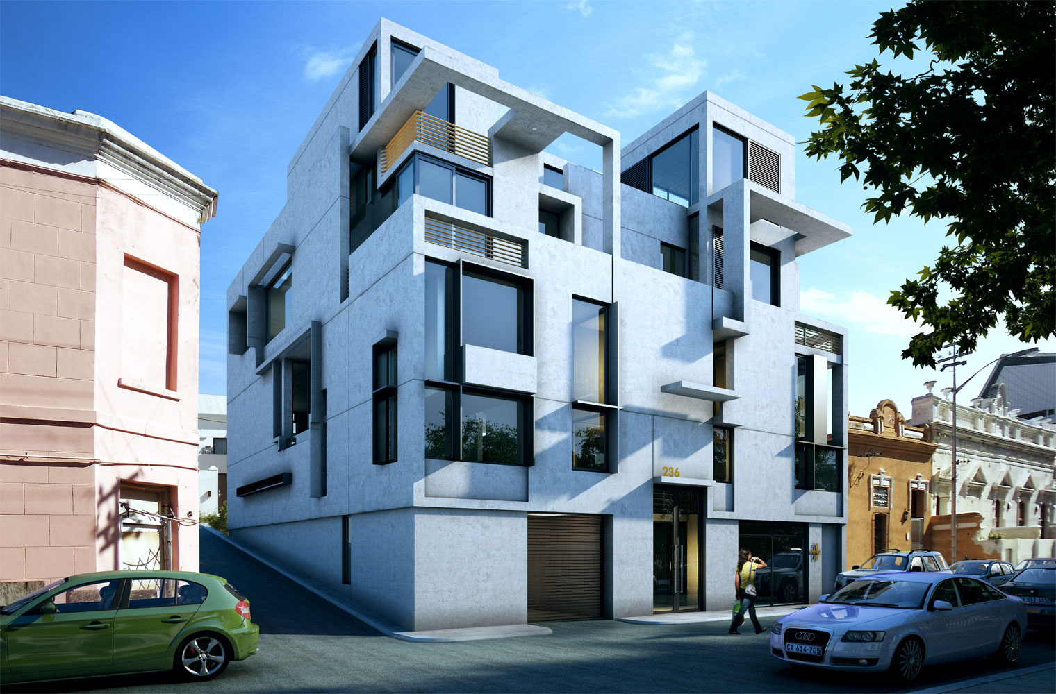 236 buitengragt street-artist impression looking north