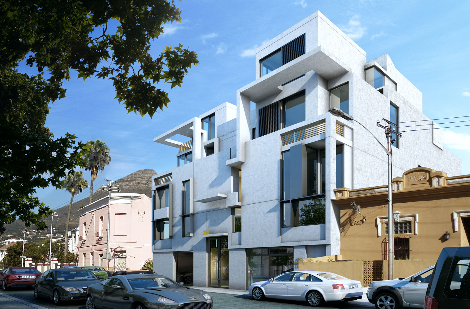 236 buitengragt street-artist impression looking west