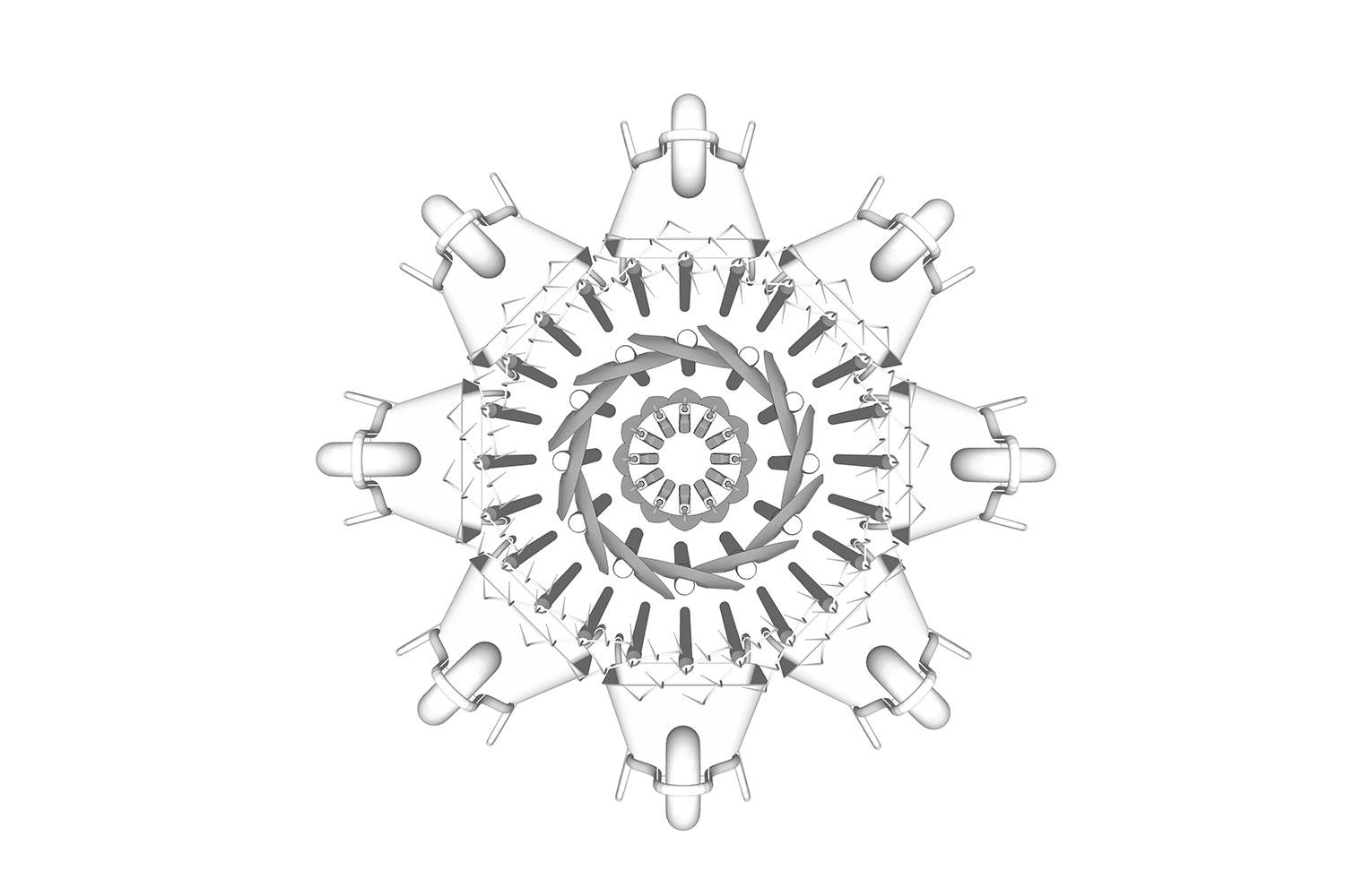 Kirstenbosch Shop-chandelier study