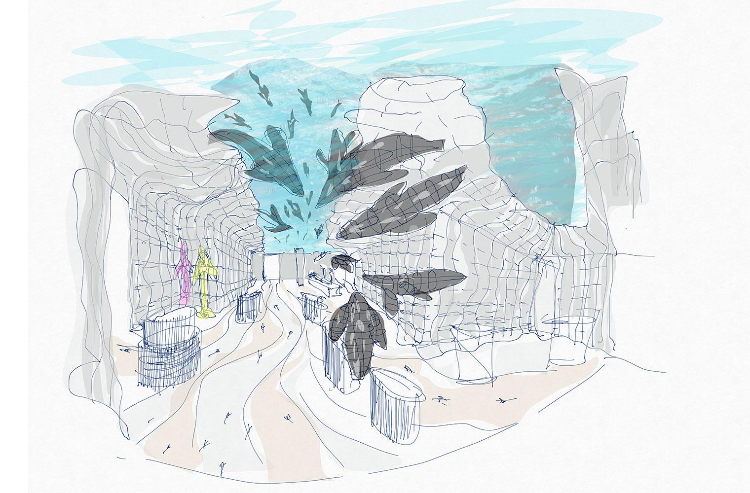 Boulders visitors centre – Concept Sketch