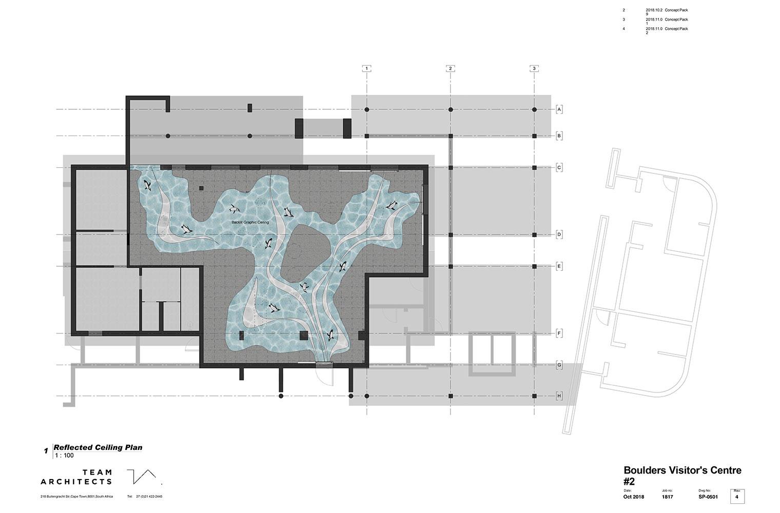Boulders visitors centre – Ceiling Plan