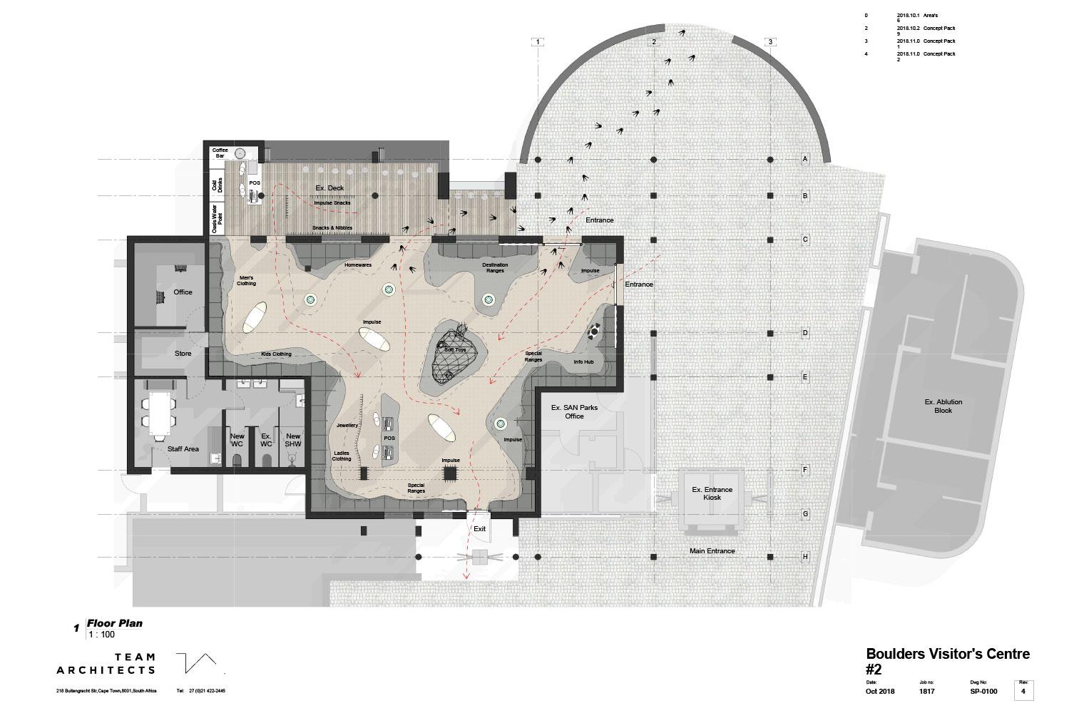 Boulders visitors centre – Plan